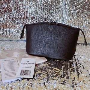 Dagne Dover small Lola Pouch Color: Onyx Leather